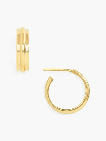 Vermeil Plated Sterling Hoop Earrings | Talbots