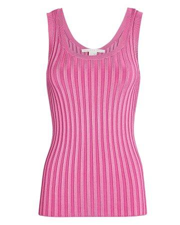 Veronica Beard Sandra Rib Knit Tank Top   INTERMIX®