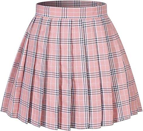 Plaid pink skirt