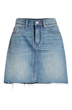 BLANKNYC Raw Hem Denim Skirt (Serengeti)   Nordstrom