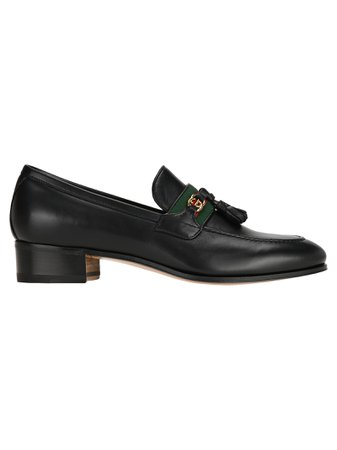 Gucci Loafer With Web And Interlocking G