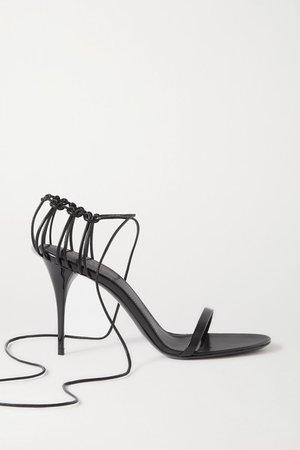 Lexi Lace-up Leather Sandals - Black