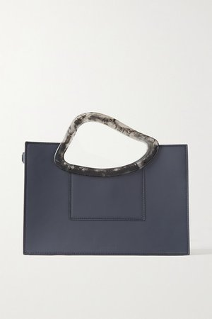 Arp's Sailent Leather And Resin Tote - Anthracite