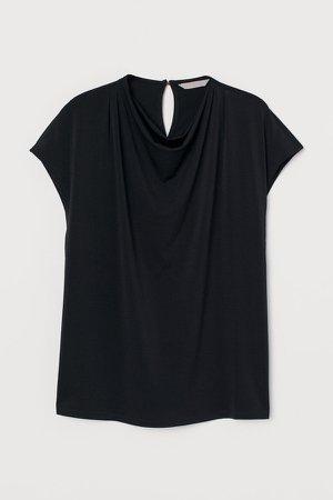 Draped Top - Black