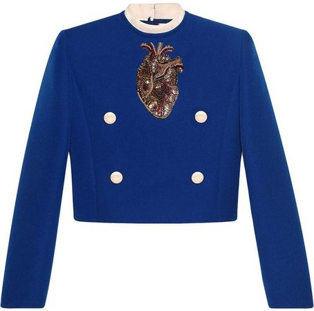 embroidered anatomical heart top