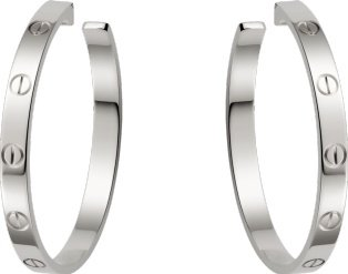 CRB8028300 - LOVE earrings - White gold - Cartier