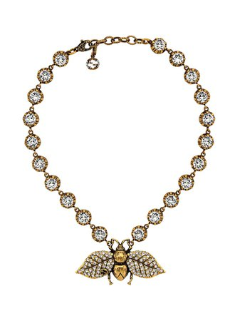 Gucci Crystal Embellished Bee Necklace - Farfetch