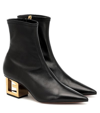 Givenchy - G Heel leather ankle boots | Mytheresa