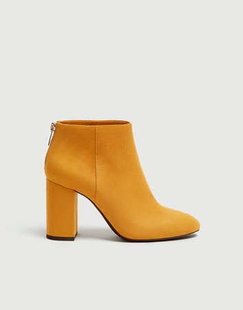 orange ankle boots - Google Search