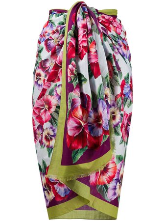 Dolce & Gabbana Large Floral Print Scarf Ss20 | Farfetch.com
