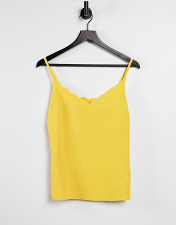 Ted Baker scalloped cami in yellow | ASOS