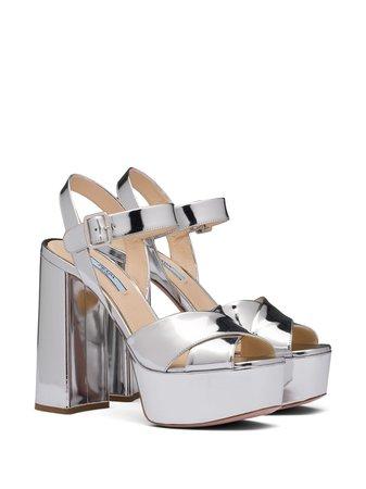Shop Prada ankles strap platform sandals with Express Delivery - FARFETCH