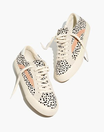 Sidewalk Low-Top Sneakers in Spotted Calf Hair and Suede white