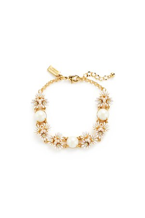 White Daisy Bracelet by kate spade new york accessories for $12 | Rent the Runway