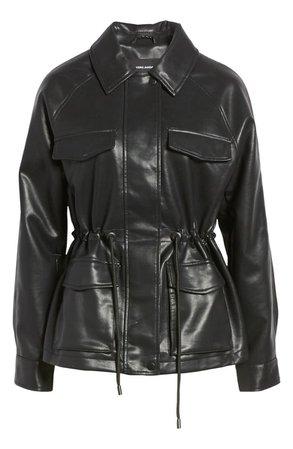 VERO MODA Jill Faux Leather Jacket   Nordstrom