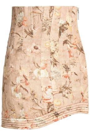Pleated floral-print linen mini skirt | ZIMMERMANN | Sale up to 70% off | THE OUTNET