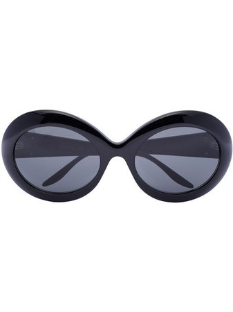 Shop Gucci Eyewear oversized round-frame sunglasses with Express Delivery - FARFETCH