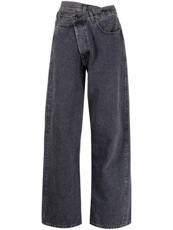 R13 asymmetric-waist wide-leg Jeans - Farfetch