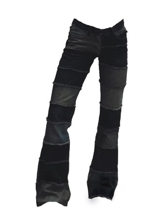 greyscale patchwork jeans