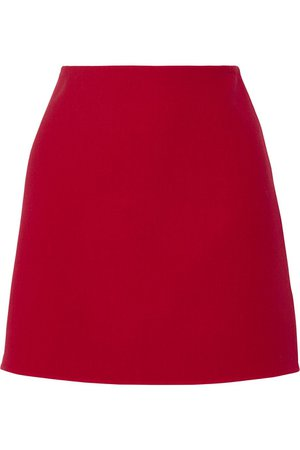 Claret Irenah Saxton stretch wool-crepe mini skirt | Theory | NET-A-PORTER