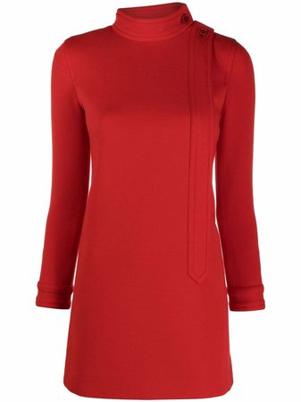 Saint Laurent wool-blend minidress
