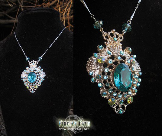 Mermaid Gem Necklace by Firefly-Path on DeviantArt