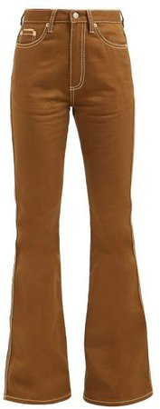 Oregon High Rise Flared Jeans - Womens - Brown
