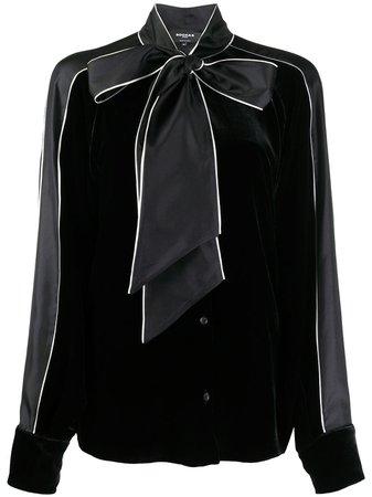 Rochas pussy-bow velvet blouse - FARFETCH