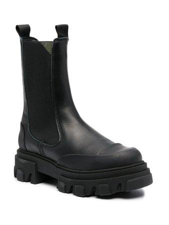 GANNI Chunky Sole Boots - Farfetch