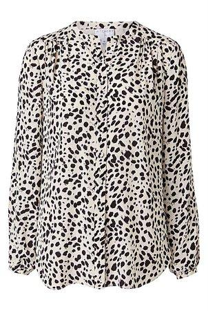 Print Button Through Blouse | Clothing