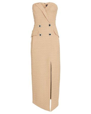 David Koma Strapless Tweed Mini Dress | INTERMIX®