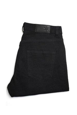 black jeans folded denim
