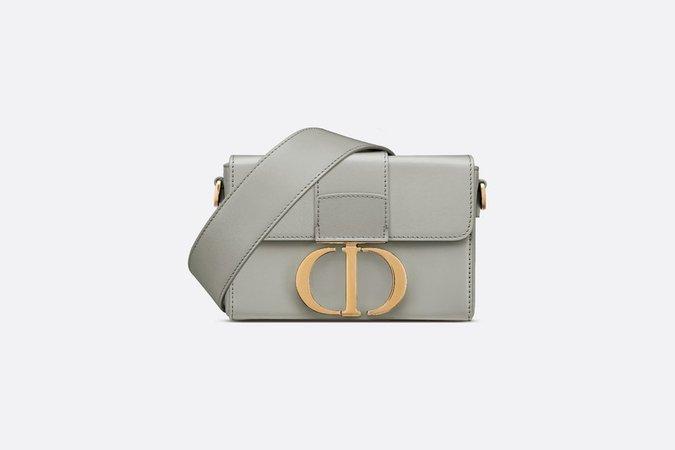 Gray Stone 30 Montaigne Box Calfskin Bag - Bags - Women's Fashion | DIOR