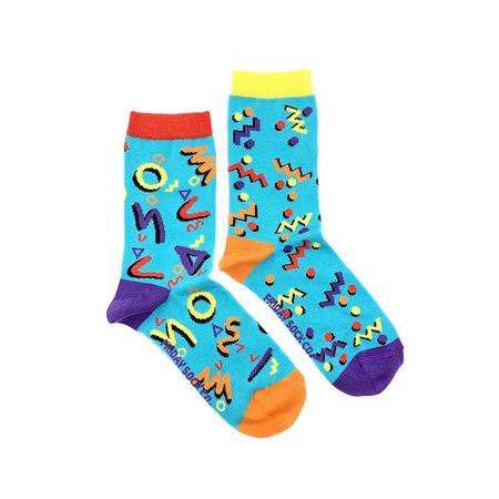 Womens Socks 80s Mismatched socks Funky Socks | Etsy