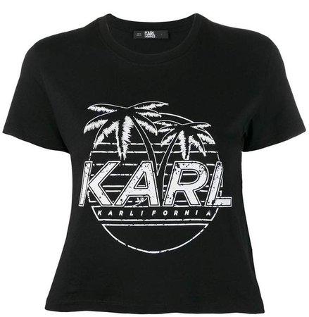 Karlifornia cropped T-shirt