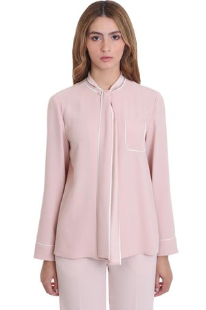 RED Valentino Blouse In Rose-pink Cotton