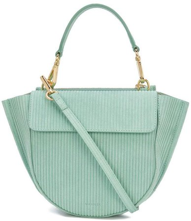 Wandler ribbed shoulder bag
