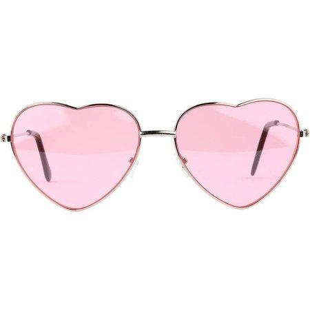 Pink Metal Heart Sunglasses