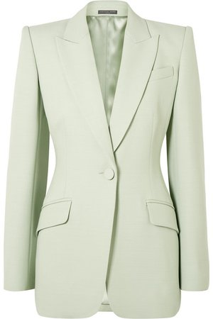 Alexander McQueen | Wool-blend crepe blazer | NET-A-PORTER.COM