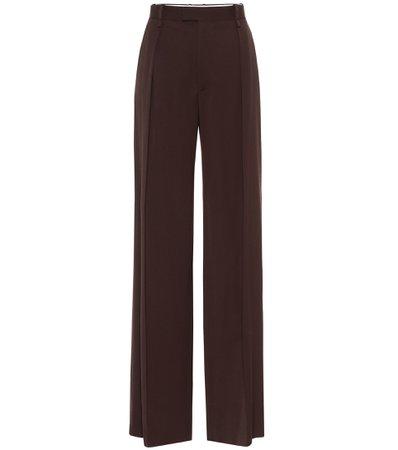 Bottega Veneta - High-rise wide-leg wool pants   Mytheresa