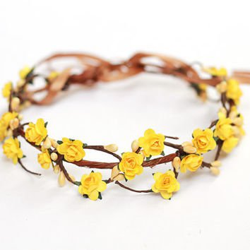 buttercup flower crown - Google Search