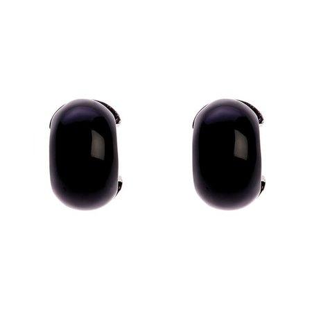 Maia Black Hoop Earrings   Simon Harrison   Wolf & Badger