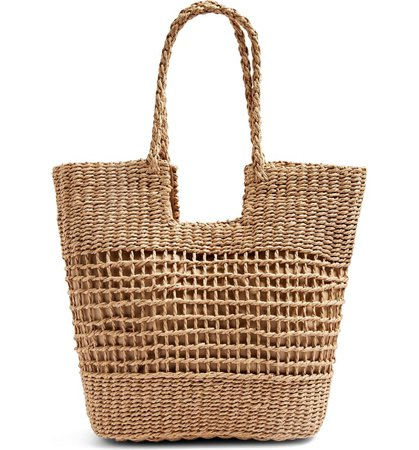 Topshop Rio Braided Handle Woven Tote | Nordstrom