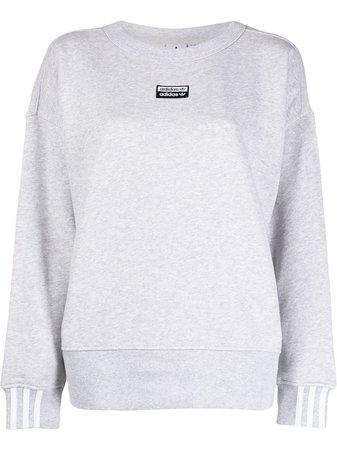 Adidas Crew Neck Logo Sweatshirt - Farfetch