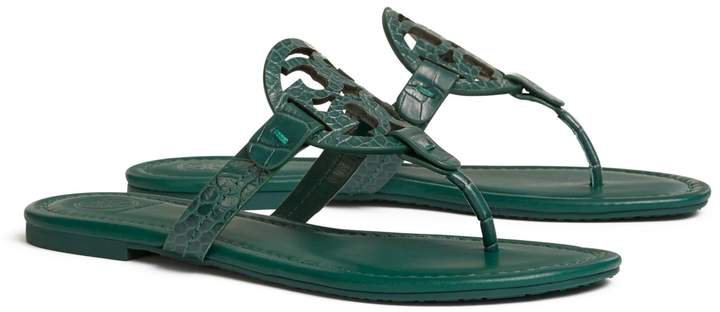 Miller Sandal, Embossed Leather