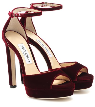 Pattie 130 Velvet Sandals | Jimmy Choo - Mytheresa