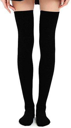 Amazon.com: Kayhoma Extra Long Cotton Stripe Thigh High Socks Over the Knee High Stockings: Clothing