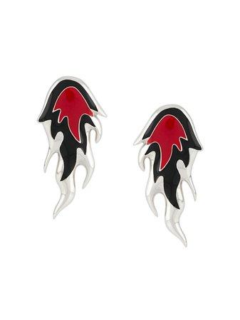 AMBUSH Flame Sculpted Earrings - Farfetch