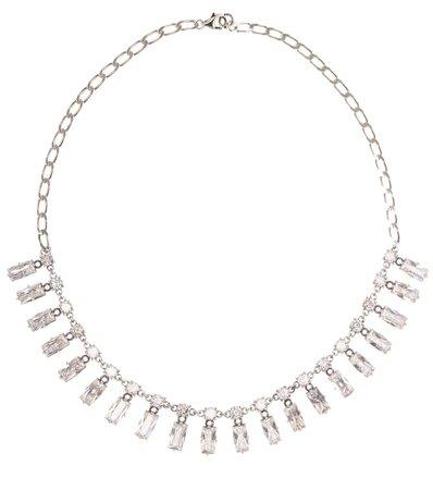 Bottega Veneta Silver And Cubic Zirconia Necklace