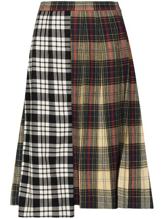 Rentrayage Panelled Checked Skirt - Farfetch